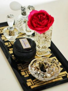 The crafting experts at HGTV.com share easy step-by-step instructions for creating a hand-painted art deco vanity and perfume tray inspired by The Great Gatsby.