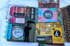 The Kitchen Sink Folio (Tim Holtz Collection Folio) -Marjie Kemper class at The Ink Pad in NYC - November 8, 2014 http://www.marjiekemper.com/mixed-media-class-the-kitchen-sink-collection-folio/