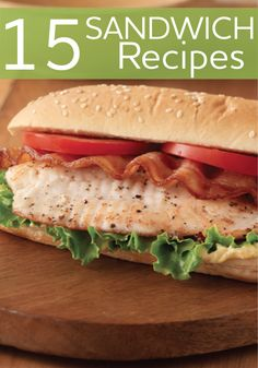 15 flavorful sandwich recipes that are easy to make and easy to take along on a picnic!