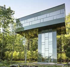 Tower House - Designed by Gluck+ , this modern vacation home surrounded by forest is situated in Upstate New York.