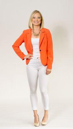 1f9dc5523e Orange blazer with stretch! Coral Blazer