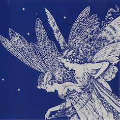 "Moon fairies - ""the moon fairies floated down carrying a cloud"" - Ida Rentoul Outhwaite"