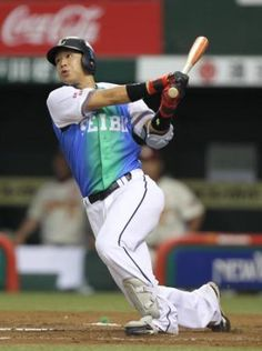 Hideto Asamura takes Kelvin Jimenez deep to left field for a solo home run, his 2nd of the year, in the 3rd inning to tie the game at 1 at Seibu Dome on Saturday, August 18, 2012 in Seibu Railway 100th Anniversary Series.