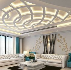 No photo description available. House Ceiling Design, Ceiling Design Living Room, Bedroom False Ceiling Design, False Ceiling Living Room, Luxury Bedroom Design, Ceiling Light Design, Home Ceiling, Living Room Designs, Living Room Partition Design