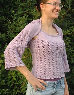 Vine Lace Summer Shrug FREE pattern by Elaine Phillips