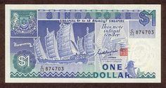 Description of the banknote 1 Dollar 1987 Singapore Singapore Dollar, Golden Number, Bank Branch, Thing 1, One Dollar, My Journal, Personal Photo, Really Cool Stuff, Nostalgia