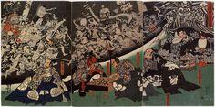 歌川国芳 Kuniyoshi Utagawa『源頼光公館土蜘蛛妖怪図』
