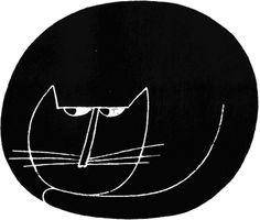 1966 Cat illustration by Arnold Varga