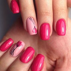 Cute And Highly Fashionable Nail Art Ideas- This post we have put together some nail art design ideas about the flower. You can refer to and choose to try and make your nails shiny. No matter the occasion, try one of the 50 cute nail designs below. Spring Nail Art, Spring Nails, Fancy Nails, Trendy Nails, Great Nails, Cute Nails, Hair And Nails, My Nails, Nails Factory