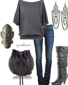 Gray fall outfit
