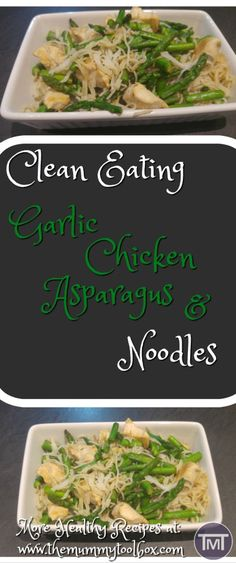 Clean Eating garlic, chicken and asparagus noodles, perfect meal prep idea with minimal clean up. Really quick and easy! Crispy Oven Fries, Crispy Oven Fried Chicken, Fries In The Oven, Skillet Chicken Parmesan, Chicken Asparagus, Garlic Chicken, Clean Eating Desserts, Eating Clean, Tomato Cream Sauces