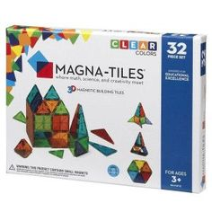 Set magnetic Clear Colors Magna-Tiles (32 piese)