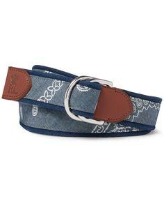 Polo Ralph Lauren Men\u0026#39;s Coastal Bandana Belt