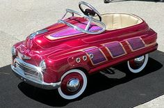 Pedal cars painted in panel paint lowrider style