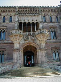 Palacio de Sobrellano, Comillas, Cantabria, Spain Celtic Nations, Villas, Indiana, Capital City, Oh The Places You'll Go, World Heritage Sites, South America, Country, Architecture