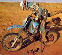 Michel merel Yamaha xt 570 Dakar 1982