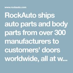 RockAuto ships auto parts and body parts from over 300 manufacturers to customer. - RockAuto ships auto parts and body parts from over 300 manufacturers to customers' doors worldwid - Volkswagen Jetta, Rock Auto, Wisconsin, Jetta A2, Brake Repair, Car Repair, Parts Catalog, Trailer Hitch, Autos