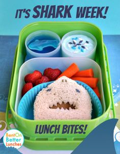 Shark Week bento lunch by Bent On @Gayle Roberts Merry Lunches