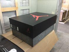 Custom made Jordan storage box wood retro by SoleShoeBoxes on Etsy