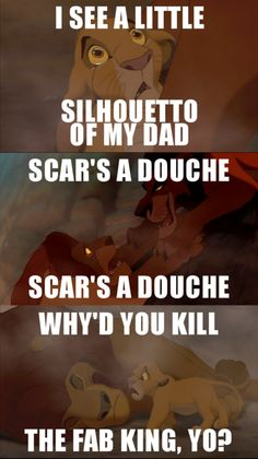 Lion King set to Bohemian Rhapsody.  Hahaha.