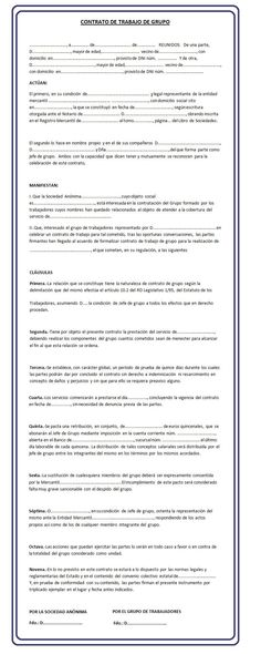 Modelo contrato de distribuci n en exclusiva modelo for Formato de contrato de trabajo