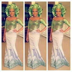 Green Nigerian wedding inspiration for brides! @asoebiafrica's photo: