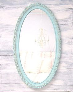 DECORATIVE VINTAGE MIRRORS For Sale Oval Mirror by RevivedVintage, $174.00