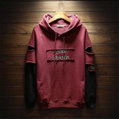 Hole Letter Printed Loose Simple All-match Hoodies Trendy Hoodies, Cool Hoodies, Matching Hoodies, Vetement Fashion, Hoodie Outfit, Jacket Style, Mens Sweatshirts, T Shirts For Women, Jeans