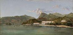 nicola antonio facchinetti (1824-1900) - casa de quarentena na ilha grande (quarantine house in ilha grande), 1887, oil on canvas.