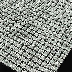 1 Yard Silver Wedding Diamond Mesh Wrap Roll Sparkle Rhinestone Crystal Looking Ribbon 4.6' Good Crafted DIY Ideas -- See this great item.