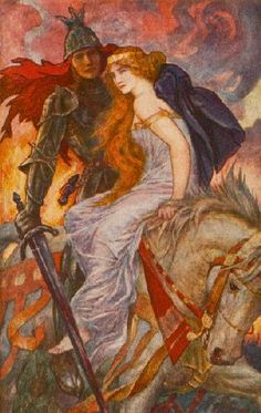 Lancelot and Guinevere by Henry Justice Ford