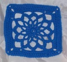 Floral Pattern Crochet Square   FaveCrafts.com