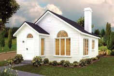 House Plan 97246 - Contemporary, Cottage Style House Plan with 527 Sq Ft, 1 Bed, 1 Bath 1200sq Ft House Plans, Small House Floor Plans, Cottage Floor Plans, Cottage Style House Plans, Cottage Style Homes, Family House Plans, Cottage Plan, 800 Sq Ft House, Small Cottage Homes