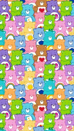 Care bears discovered by Jessica Garcia on We Heart It Care bears discovered by Jessica Garcia on We Heart It<br> Cartoon Wallpaper, Whats Wallpaper, Wallpaper Collage, Trippy Wallpaper, Cute Patterns Wallpaper, Bear Wallpaper, Iphone Background Wallpaper, Aesthetic Pastel Wallpaper, Locked Wallpaper