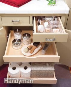 Pull outs for cabinet- so neat n tidy