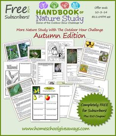 """FREE Autumn Handbook of Nature Study (3 Days Only!) This week, """"Handbook of Nature Study"""" has offered up their Autumn unit for Homeschool Giveaways & Freebi"""