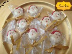 Paletas de la Cara de Santa en Chocolate