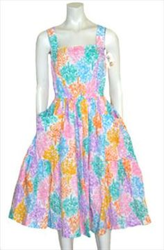 Vintage 80s Sundress I wish I would have been old enough in the 80's to wear this it's so cute!!!
