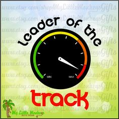Racing Leader of the Track Tachometer Design Digital Clipart and Cut File Instant Download Full Color 300 dpi Jpeg, Png, SVG EPS DXF Format - pinned by pin4etsy.com