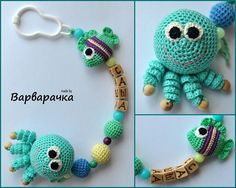 #sootherclip with #amigurumi Bead Crochet, Crochet Dolls, Crochet Necklace, Newborn Crochet, Crochet Baby, Pacifier Holder, Pacifier Clips, Crochet Pacifier Clip, Dummy Clips