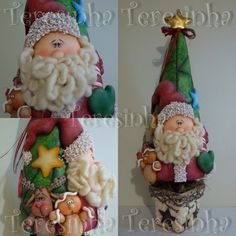 can be made with sculppy Christmas Pasta, Polymer Clay Christmas, Christmas Ornaments To Make, Clay Ornaments, Felt Christmas, Christmas Projects, Vintage Christmas, Clay Crafts, Diy And Crafts