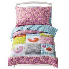 Sumersault Birdie Toddler Bedding Set