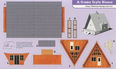 A-Frame Style House - Cut Out Postcard | Flickr - Photo Sharing!