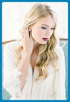 Swarovski Crystal Bridal Earrings- Crystal Stud Earrings- Rhinestone, Bridal Statement Earrings - Wedding earings (*Amazon Partner-Link)