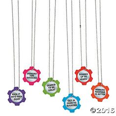 Gear Award Necklaces