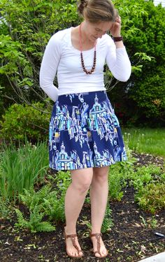 Make this cute (easy) flirty skirt - Great tutorial!