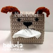Crochet tissue box. Mr. Dogi