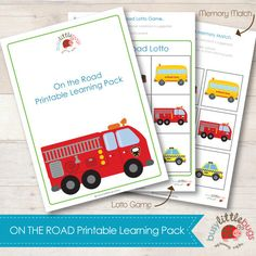 Busy Little Bugs - On the Road Printable Learning Pack Lots of educational fun all about Transport! AUTOMATIC DOWNLOAD