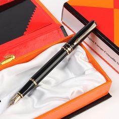 European Crocodile 310 Luxury Metal Fountain Pen with 0.5mm Nib Iridium/Gift Pens Free Shipping Student Stationery Gift Pens, Pencil Writing, Fountain Pen, Crocodile, Stationery, Student, Free Shipping, Luxury, Metal