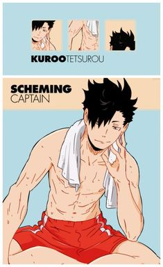 Might I remind you that the reference for this is a legit artwork from the animation team of Haikyuu? --> i will never forget omg but unf the artist got fired for leaking nsfw hq content Kuroo Haikyuu, Kuroo Tetsurou Hot, Haikyuu Fanart, Kenma, Haikyuu Anime, Anime Boys, Me Anime, Fanarts Anime, Hot Anime Boy